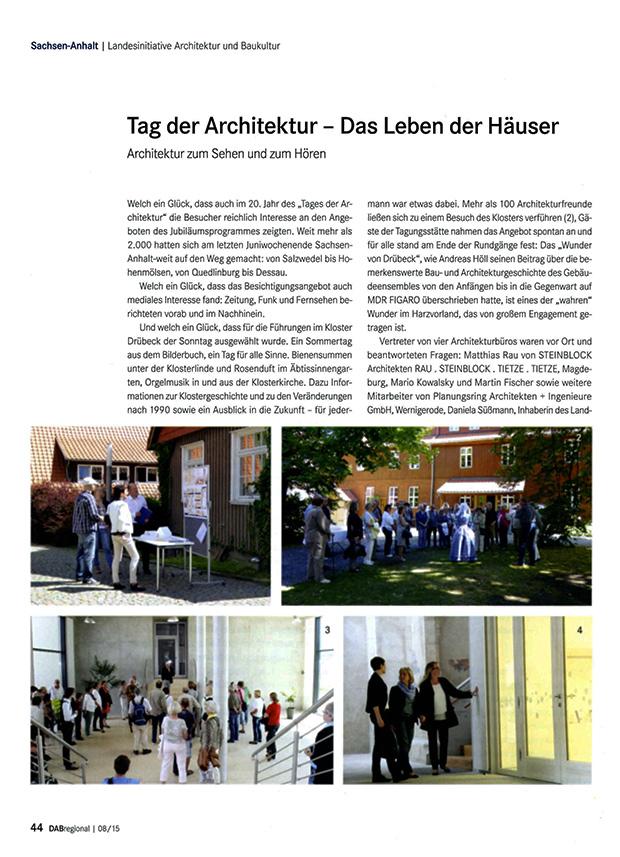 Artikel Architektenblatt Seite 1